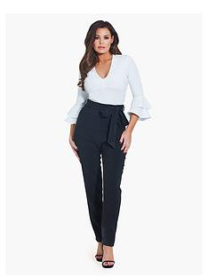 jessica-wright-tie-waist-trouser-black