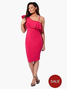 jessica-wright-ruffle-bardot-dress