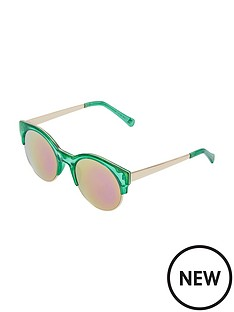 river-island-green-crystal-pink-mirror-sunglasses
