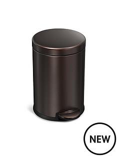 simplehuman-45-litre-round-pedal-bin-dark-bronze