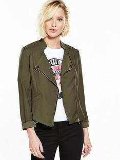 river-island-khaki-biker-jacket
