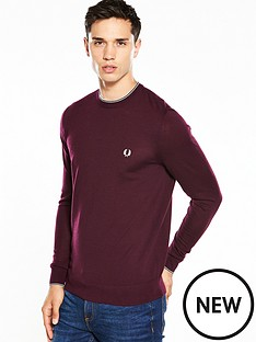 fred-perry-merino-crew-jumper
