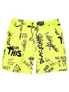 river-island-boys-yellow-graffiti-print-swim-shorts