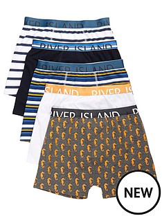 river-island-boys-blue-seahorse-print-boxers-multipack