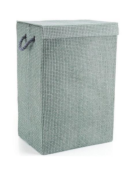 minky-laundry-hamperbasket-grey-check-in-canvas