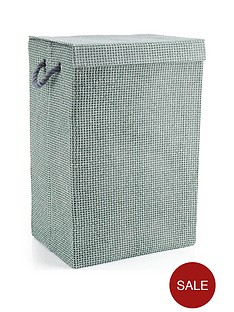 minky-laundry-hamperbasket-grey-check-in-canvas