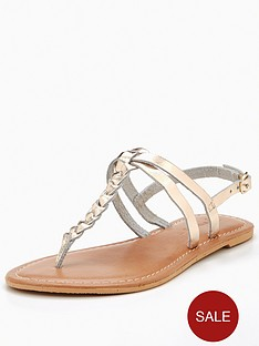 v-by-very-leather-plait-detail-flat-sandal-metallic