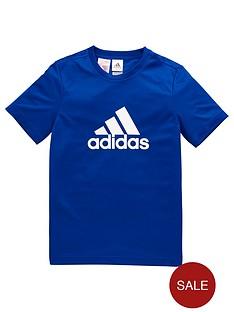 adidas-older-boys-poly-logo-tee