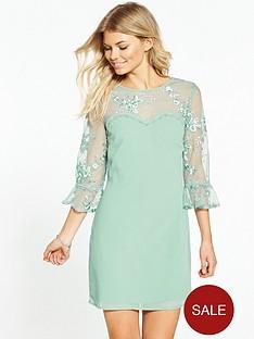 little-mistress-petite-all-over-lace-top-dress