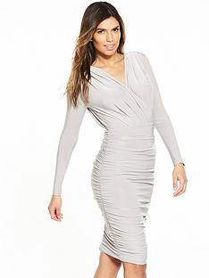 ax-paris-ruched-long-sleeve-bodycon