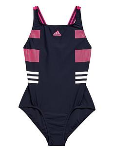 adidas-older-girls-block-stripe-swimsuit
