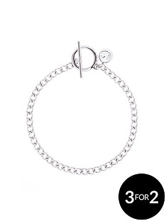 karen-millen-silver-plated-quantumnbspswarovskinbspcrystal-t-bar-bracelet
