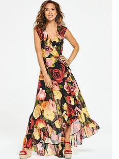 myleene-klass-sleeveless-ruffle-high-low-maxi-dress