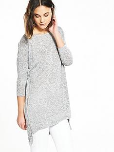 river-island-grey-zip-side-jumper