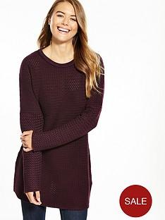 replay-long-sleeved-zip-back-knittednbspjumper