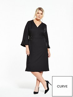 v-by-very-curve-fluted-sleeve-d-ring-dress