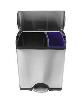 simplehuman-stainless-steel-rectangular-recycler-bin