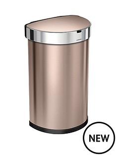 simplehuman-semi-round-45-litre-sensor-bin-ndash-rose-gold