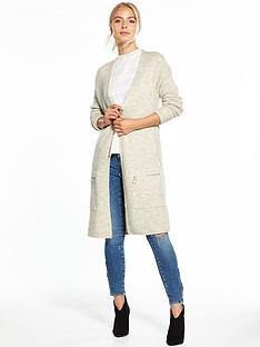 v-by-very-zip-pocket-long-line-cardigan