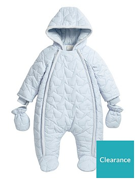 mamas-papas-baby-boys-blue-quilted-pramsuit