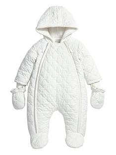 mamas-papas-baby-white-quilted-pramsuit