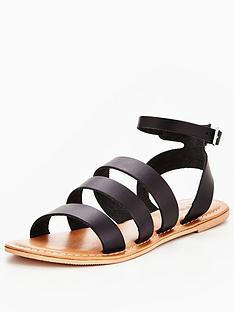v-by-very-cherish-leather-multi-strap-flat-sandal-black