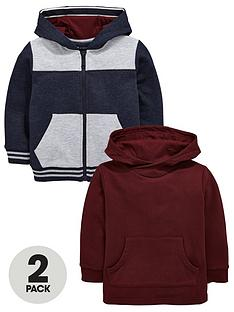 mini-v-by-very-boys-zip-front-and-overhead-hoodies