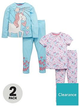 mini-v-by-very-girls-2pk-glitter-unicorn-pyjamas