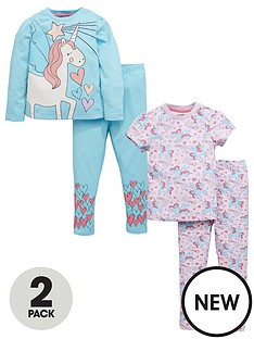 mini-v-by-very-mini-v-by-verynbspgirls-2pk-glitter-unicorn-pjs