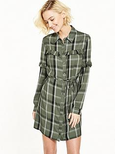 miss-selfridge-frill-check-dress