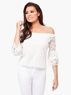 jessica-wright-gigi-lace-frill-sleeve-top