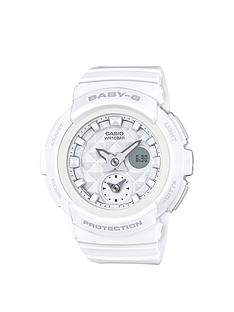 baby-g-studded-dial-white-strap-watch
