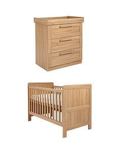 mamas-papas-atlas-cottoddler-bed-amp-dresser-set-oak-effect