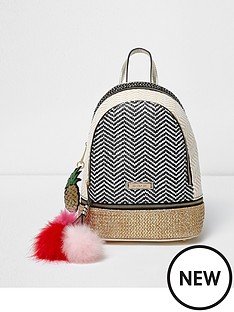 river-island-mixed-weave-mini-backpack