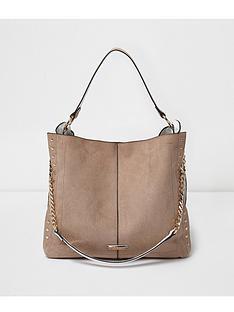 river-island-river-island-stud-detail-slouch-shoulder-bag