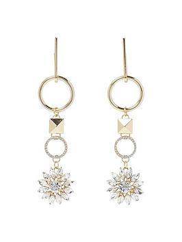 river-island-drop-hoop-flower-earrings
