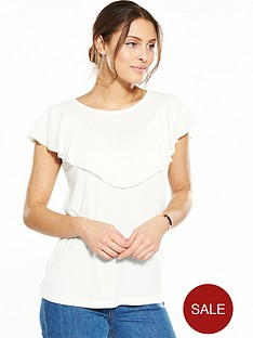 vila-morcal-frill-v-neck-t-shirt-cloud-dancer