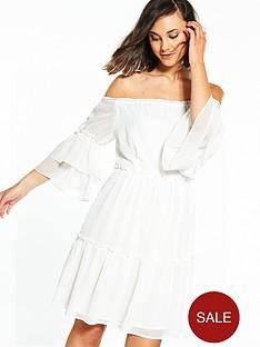 vila-conna-off-shoulder-frill-dress