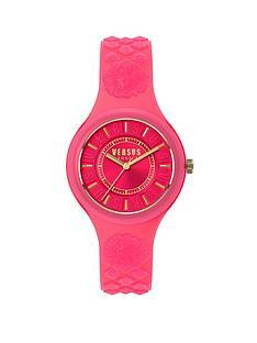 versus-versace-versus-versace-fire-island-pink-dial-pink-silicone-strap-ladies-watch