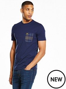 lyle-scott-lyle-amp-scott-check-pocket-t-shirt