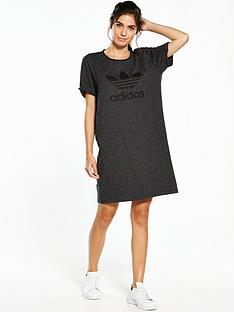adidas-originals-trefoil-tee-dress-black-melangenbsp