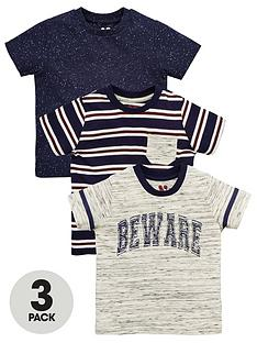 mini-v-by-very-boys-3pk-stipe-amp-slogan-tees