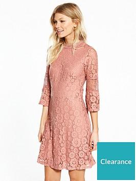 v-by-very-petite-flute-sleeve-lace-dress