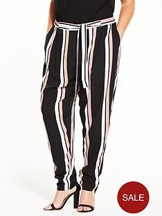 v-by-very-curve-pastel-stripe-woven-trouser-blacknbsp
