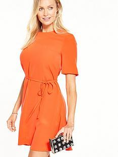 warehouse-plain-flippy-dress