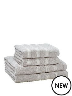 catherine-lansfield-4-piece-sparkle-band-towel-bale-grey-buy-1-get-1-free