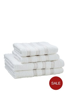 catherine-lansfield-4-piece-sparkle-band-towel-bale-white-buy-1-get-1-free