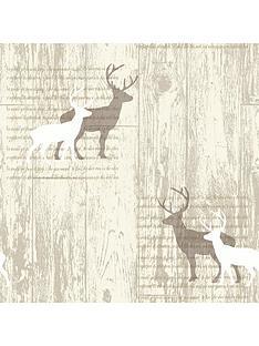 arthouse-stag-cream-wallpaper
