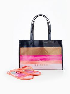 ted-baker-marina-mosaic-icon-shopper-with-flip-flop