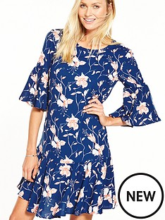 vila-new-dress-floral-print